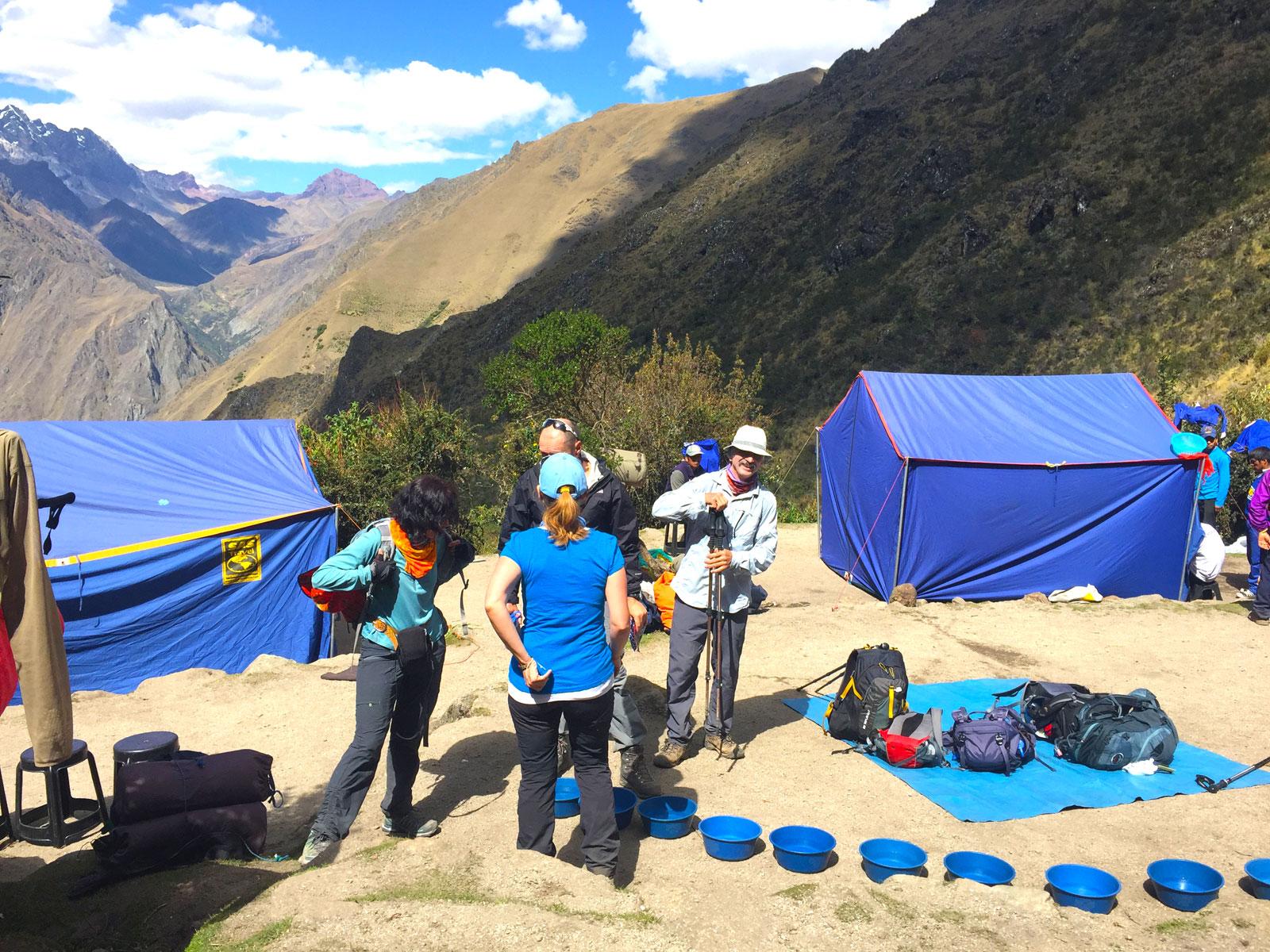 Campsite along the Inca Trail